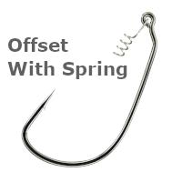 Вид офсетного крючка Offset With Spring - картинка